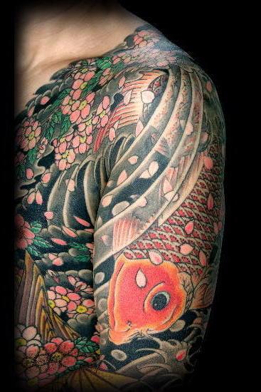 tattoo carpas. Dada a lenda, as carpas se